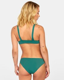 0 SOLID FULL BIKINI BOTTOMS Green XB031RSF RVCA