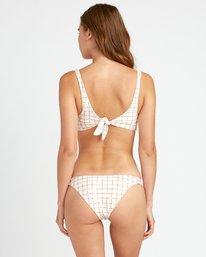 0 KLW Grid Cheeky Bikini Bottoms White XB04URKC RVCA
