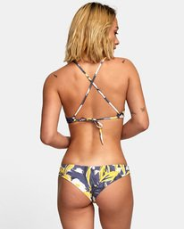 0 Vista Floral Cheeky Bikini Bottoms Grey XB13WRVC RVCA