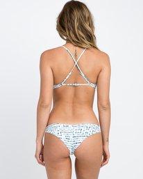 0 Tie Dye Tile Cheeky Bikini Bottoms White XB17PRTC RVCA