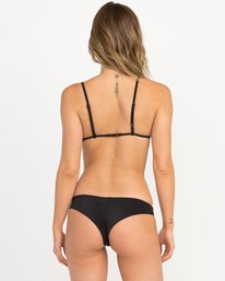0 Solid Shimmer Cheeky Bikini Bottoms Black XB20QRSC RVCA
