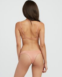 0 Solid Shimmer Isle Skimpy Bikini Bottom Beige XB21QRIS RVCA