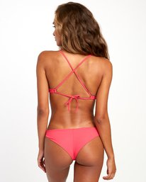 0 SOLID CHEEKY BIKINI BOTTOMS Pink XB431RSC RVCA