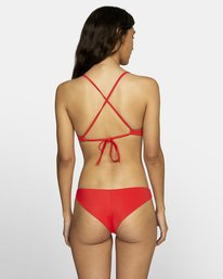 0 SOLID CHEEKY BIKINI BOTTOMS Red XB431RSC RVCA
