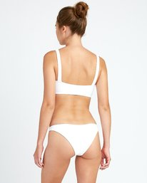 0 White Noise Medium Bikini Bottoms White XB52URWM RVCA
