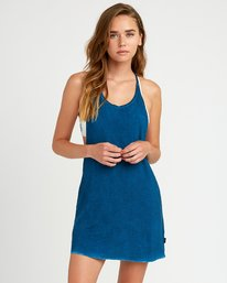 0 Backside Tank Dress Blue XC03TRBC RVCA