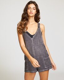 0 Around Town Woven Romper Grey XC05VRAR RVCA