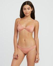 0 Solid Shimmer Triangle Bikini Top Beige XT01QRST RVCA