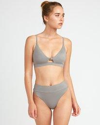 0 Solid Knot Bralette Bikini Top Blue XT02URST RVCA