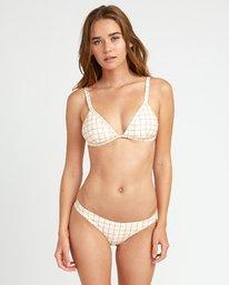 0 KLW Grid Tri Bralette Bikini Top White XT05URKB RVCA