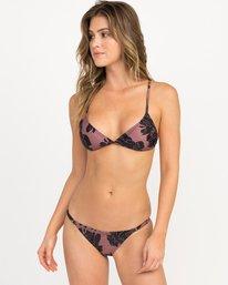 0 Peony Floral Triangle Bikini Top Pink XT12QRPT RVCA