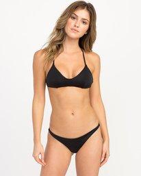 0 Solid Shimmer Crossback Bikini Top Black XT20QRSC RVCA
