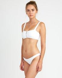 3 White Noise Bandeau Bikini Top  XT50URWT RVCA