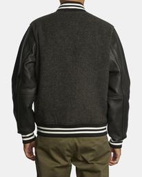 2 Letterman - College-Jacke für Männer Schwarz Z1JKRFRVF1 RVCA