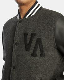 3 Letterman - College-Jacke für Männer Schwarz Z1JKRFRVF1 RVCA