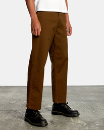 6 Kevin Spanky Long Okapi - Trousers for Men Brown Z1PTRHRVF1 RVCA