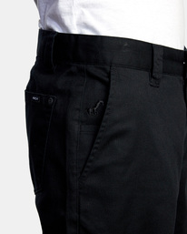 3 Kevin Spanky Long Okapi - Pantalones para Hombre Negro Z1PTRHRVF1 RVCA
