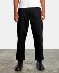 1 Kevin Spanky Long Okapi - Pantalones para Hombre Negro Z1PTRHRVF1 RVCA