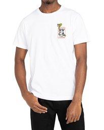 2 Snake Eyes - T-shirt pour Homme Blanc Z1SSRCRVF1 RVCA