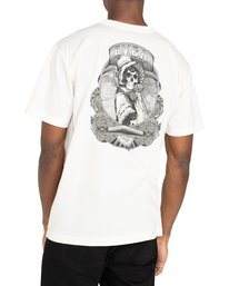 3 George Thompson Skull Bonnet - T-shirt pour Homme Blanc Z1SSRMRVF1 RVCA