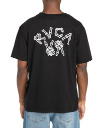 3 Peace Bones - T-shirt pour Homme Noir Z1SSRVRVF1 RVCA