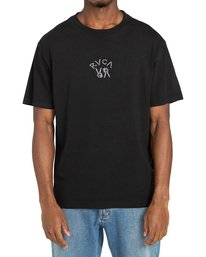 2 Peace Bones - T-shirt pour Homme Noir Z1SSRVRVF1 RVCA