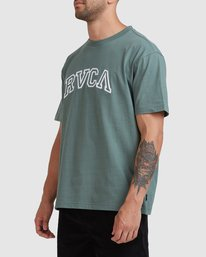 3 Rvca Teamster - T-shirt pour Homme Vert Z1SSSDRVF1 RVCA