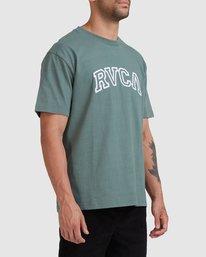 4 Rvca Teamster - T-shirt pour Homme Vert Z1SSSDRVF1 RVCA
