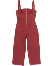 4 Railway Jumper - Combinaison en jean pour Femme Rose Z3ONRDRVF1 RVCA