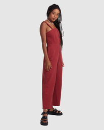 3 Railway Jumper - Combinaison en jean pour Femme Rose Z3ONRDRVF1 RVCA