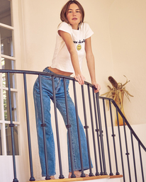 0 Camille Rowe Livin' - High Waisted Jeans for Women Blue Z3PNRBRVF1 RVCA
