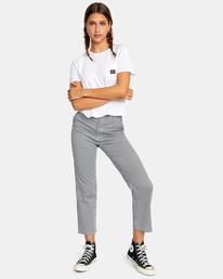 3 Recession Vanagain - Camiseta para Mujer Blanco Z3SSSARVF1 RVCA