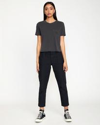 3 Recession Vanagain - Camiseta para Mujer Negro Z3SSSARVF1 RVCA