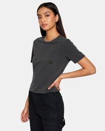 4 Recession Vanagain - Camiseta para Mujer Negro Z3SSSARVF1 RVCA