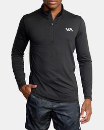 7 Sport Vent Zip - Haut de sport manches longues pour Homme Noir Z4KTMFRVF1 RVCA