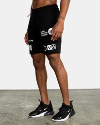 2 VA Sport IV - Short de survêtement pour Homme Noir Z4WKDBRVF1 RVCA