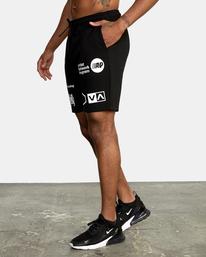3 VA Sport IV - Short de survêtement pour Homme Noir Z4WKDBRVF1 RVCA
