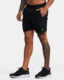 5 VA Sport Yogger IV - Short de Entrenamiento para Hombre Negro Z4WKMHRVF1 RVCA