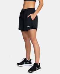 4 Womens Sport Vent - Short deportivo para Mujer Negro Z4WKWDRVF1 RVCA
