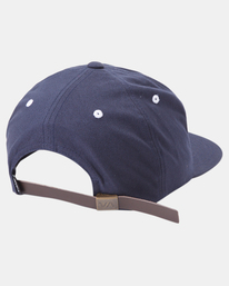 3 VA Univ - Strapback Cap for Men Blue Z5CPRRRVF1 RVCA