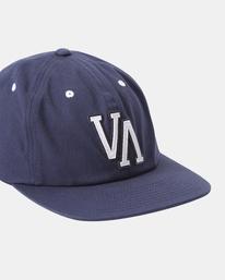 4 VA Univ - Strapback Cap for Men Blue Z5CPRRRVF1 RVCA