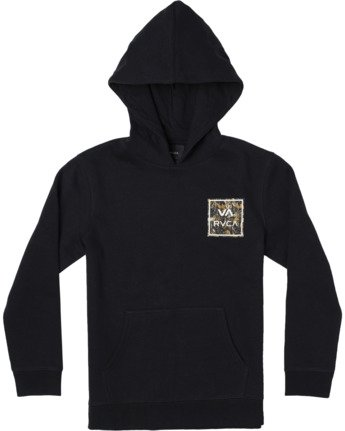 0 VA ALL THE WAY HOODIE Black AVBFT00103 RVCA
