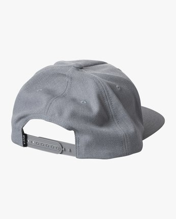 1 BOY'S STRIKE SNAPBACK HAT Grey AVBHA00107 RVCA