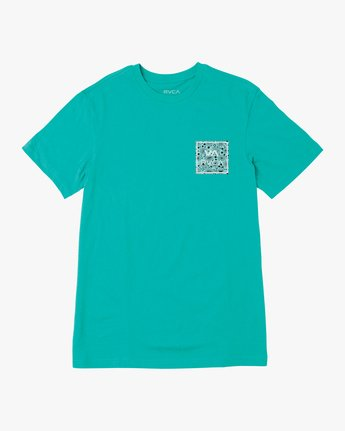 0 BOY'S VA ALL THE WAY SHORT SLEEVE TEE Blue AVBZT00144 RVCA
