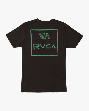 1 BOY'S DRY BRUSH SHORT SLEEVE TEE Black AVBZT00145 RVCA