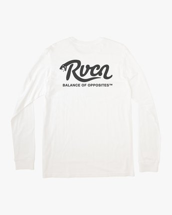 1 BOY'S HISS LONG SLEEVE TEE White AVBZT00150 RVCA