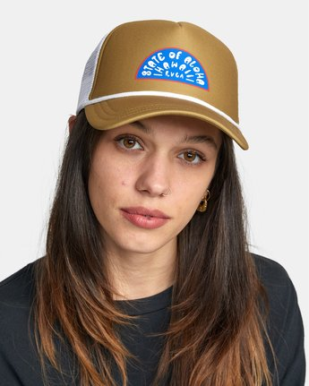 0 State of Aloha TRUCKER HAT  AVJHA00105 RVCA