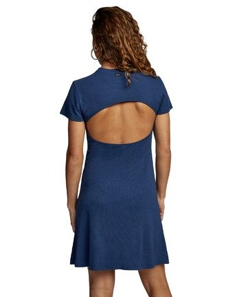 1 GHOSTED DRESS Blue AVJKD00111 RVCA