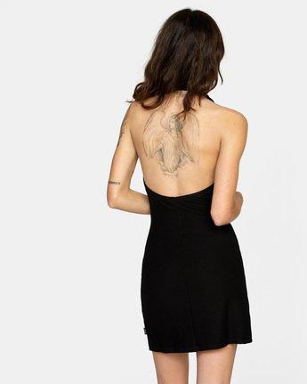 1 Rushmore Halter Dress Black AVJKD00117 RVCA