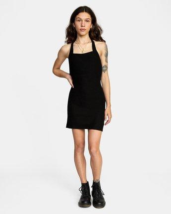 2 Rushmore Halter Dress Black AVJKD00117 RVCA